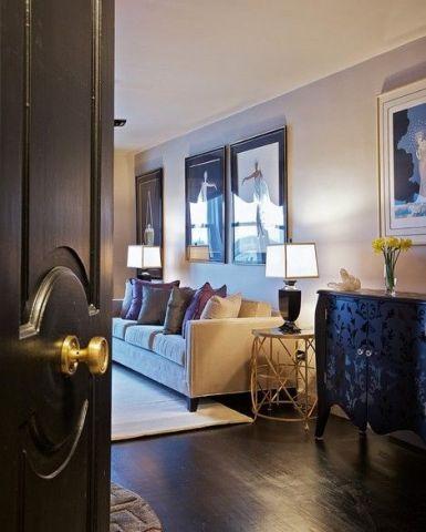 美观大方咖啡色客厅设计方案