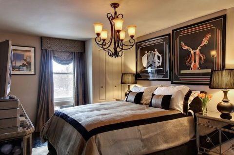 潮流卧室吊顶装修实景图
