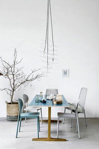 清新素丽客厅现代简约装饰图片