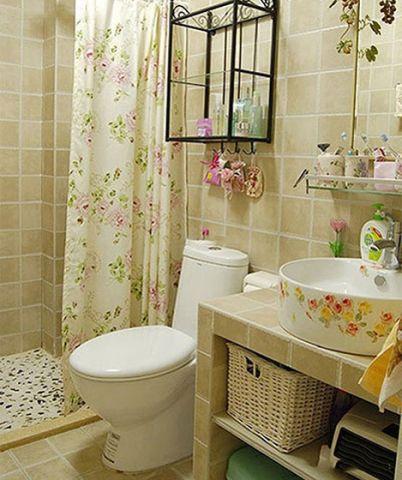 卫生间洗漱台装饰实景图