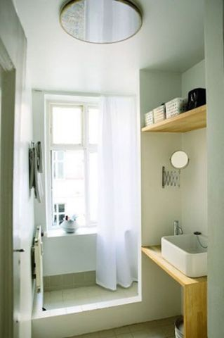 混搭浴室窗台效果图图片