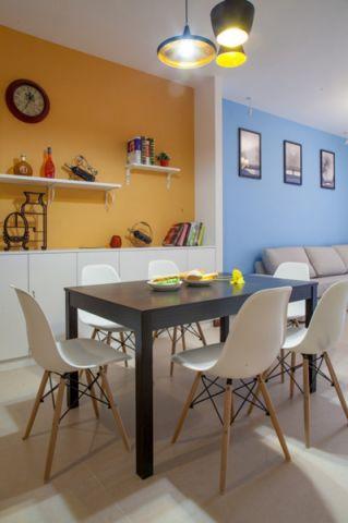 现代餐厅餐桌装潢实景图片