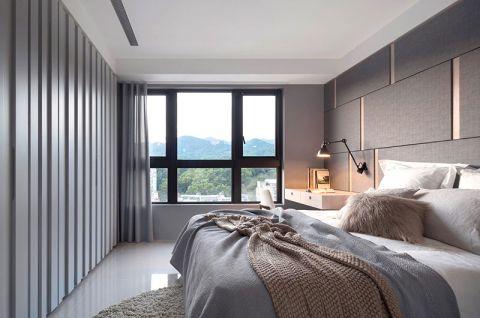 卧室窗帘现代简约装潢实景图