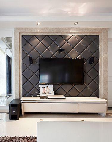 混搭客厅电视背景墙效果图图片