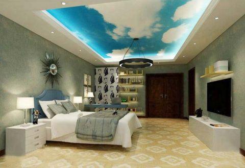 清新卧室吊顶装修效果图欣赏