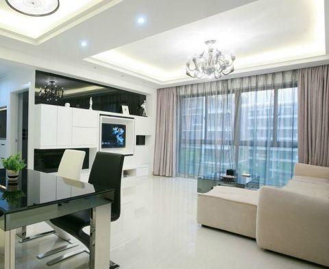 公寓100平米现代简约风格装潢设计图片