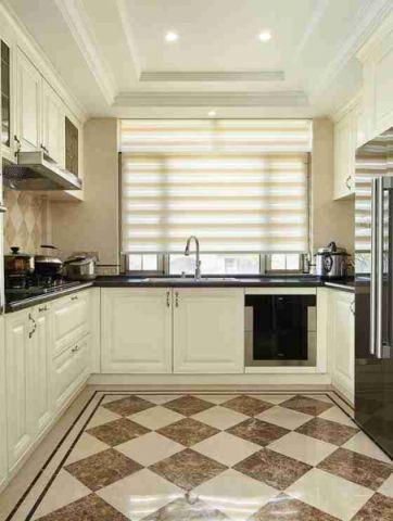 美观大方厨房美式装潢实景图片
