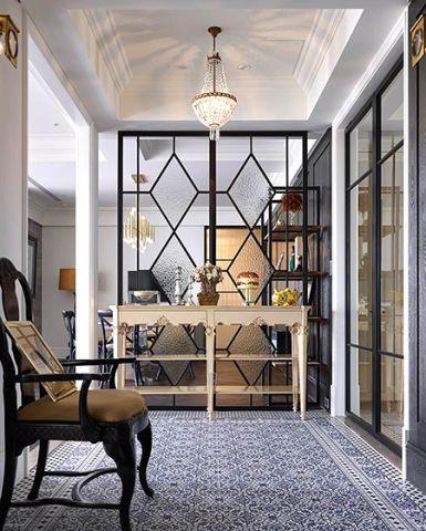 客厅隔断美式风格装潢图片
