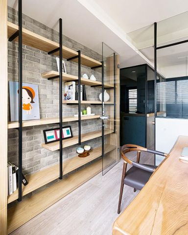2019现代简约客厅装修设计 2019现代简约书架装修图