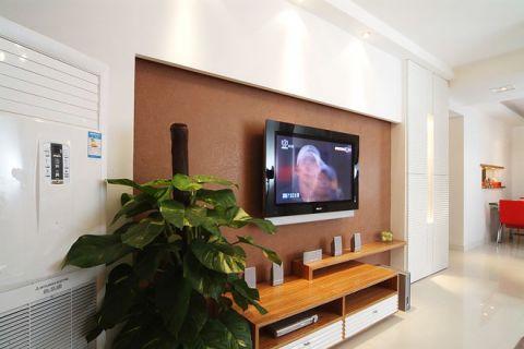 客厅电视背景墙混搭风格效果图