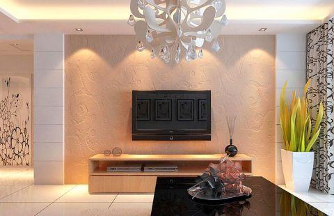 客厅电视背景墙室内效果图