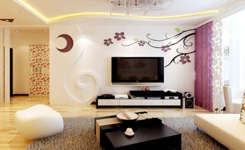 混搭客厅电视背景墙设计