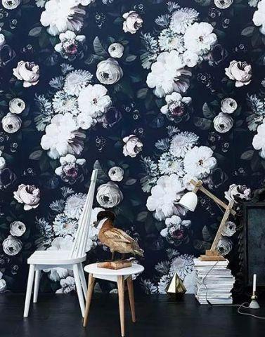 文艺混搭背景墙装饰效果图
