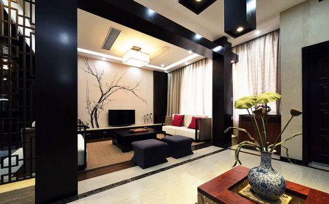 现代客厅中式装修