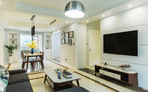 公寓90平米现代简约风格设计图