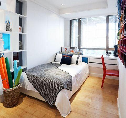 混搭卧室飘窗单人床装修案例