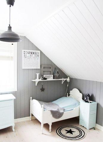 清新白色卧室装饰图