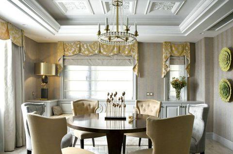 2019新古典餐厅效果图 2019新古典餐桌装修图片