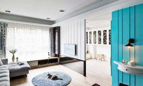 大户型60平米混搭风格室内效果图