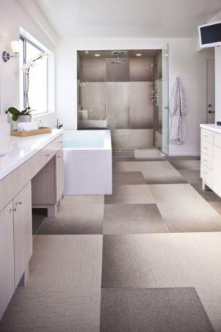 浴室白色浴缸设计图欣赏