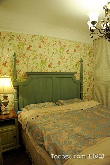2020乡村卧室装修设计图片 2020乡村床图片