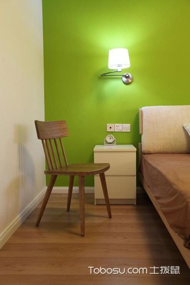 华丽绿色背景墙装修