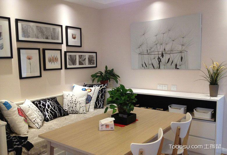 现代简约风格二居室75平米装修