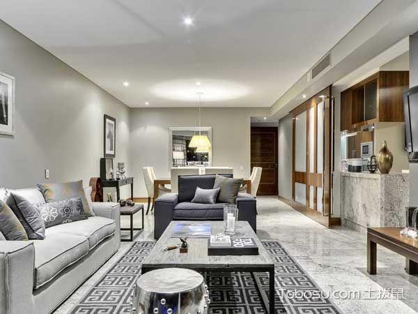 新中式混搭风格客厅沙发装修图