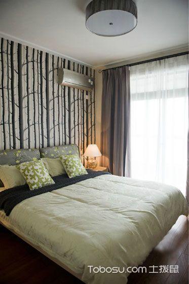 沉稳简约绿色床设计方案