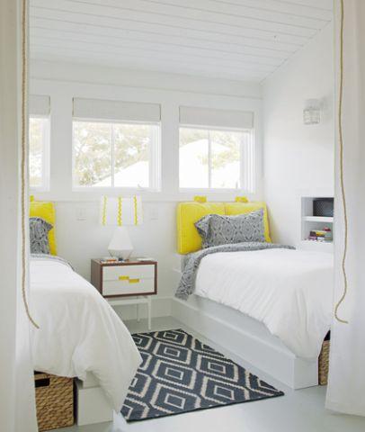 温馨卧室单人床设计图