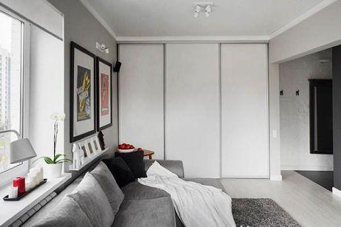 2019北欧客厅装修设计 2019北欧隐形门装修效果图片