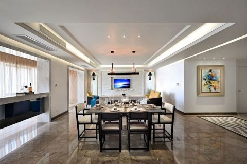 新中式风格公寓118平米装饰图片