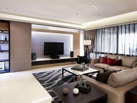 现代风格三居室136平米装修设计图片