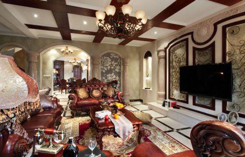 别墅169平米美式风格装潢设计图片