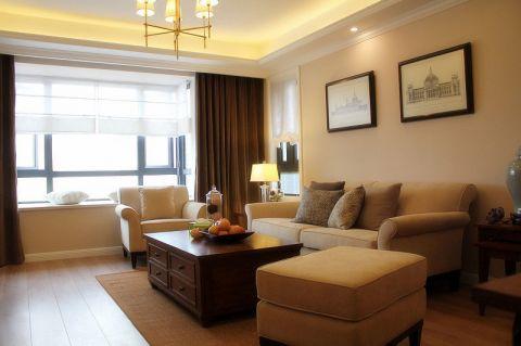 111平米三居室美式风格实景图