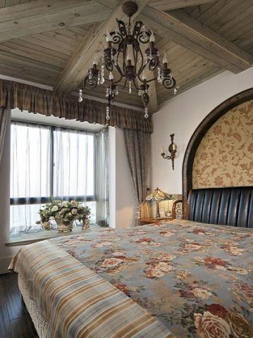 质感地中海咖啡色床U乐国际娱乐图