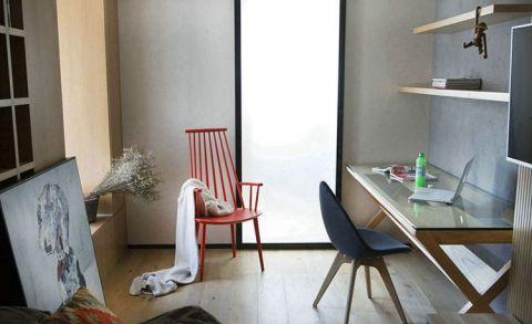 书房书桌简约风格装饰效果图