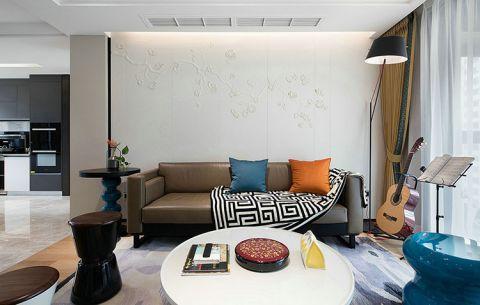 客厅茶几简约风格装潢图片