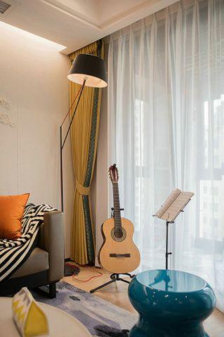 客厅落地窗简约风格装修设计图片