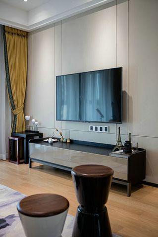 大气灰色电视背景墙装潢效果图