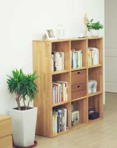 客厅书架日式风格效果图