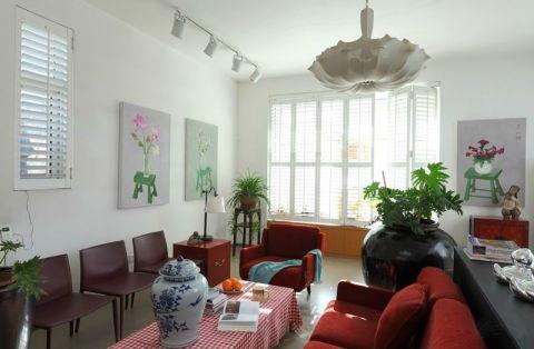 客厅落地窗混搭风格装修图片