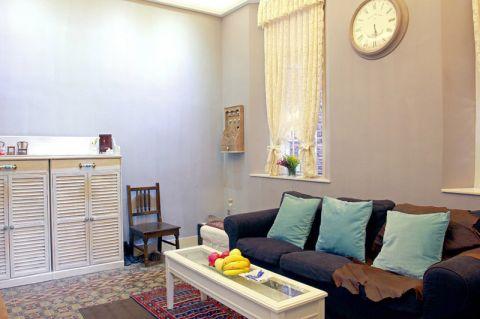 简欧风格二居室60平米装修案例图片