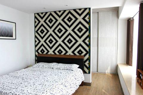卧室床北欧风格装潢图片