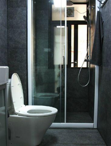 卫生间推拉门北欧风格装修设计图片