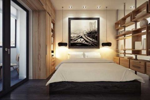 卧室床混搭装修案例图片