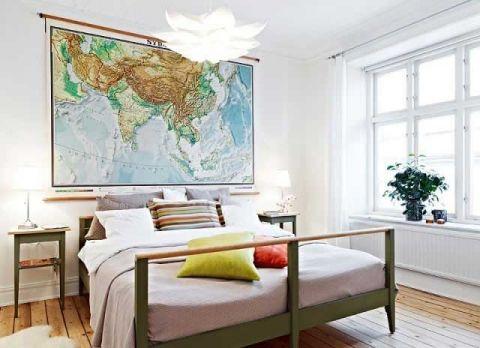 卧室咖啡色床装饰图