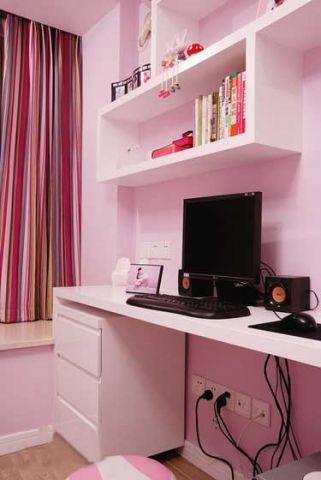 唯美儿童房书桌室内装饰