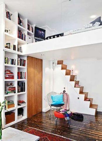 客厅楼梯东南亚风格装潢效果图