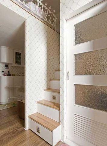 客厅楼梯田园风格装饰设计图片